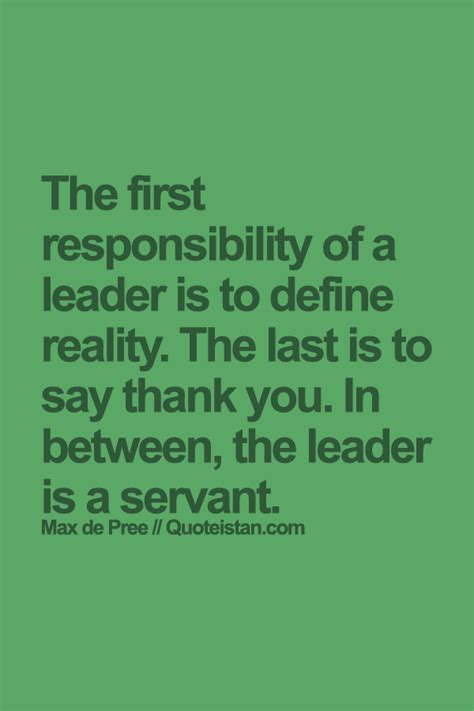 responsibility   leader   define reality