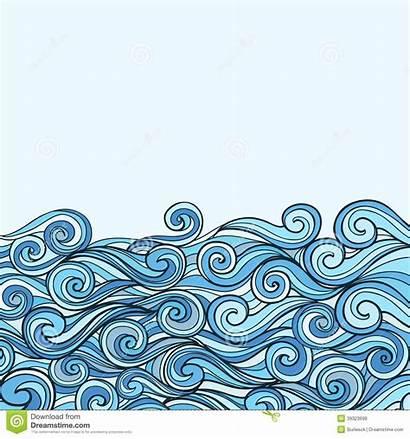 Wave Sea Vague Mer Fond Bleu Drawing