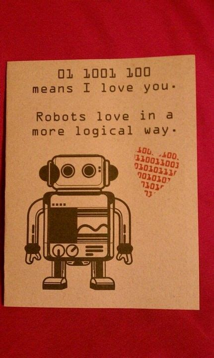 robot love blank cards printed invites  cards