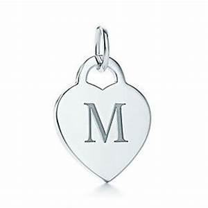 alphabet heart tag letter quotmquot charm monograms monogram With alphabet heart tag letter charm and chain tiffany