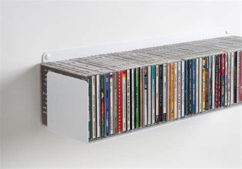 mensole porta dvd mensola porta cd set di 4 60 cm acciao