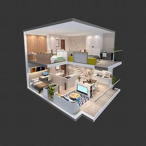 illustration 3d de vue isometrique d39un appartement With plan d appartement 3d 16 appartement terrasse moderne illustration stock image