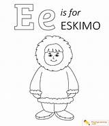 Eskimo Coloring Igloo Pages Sheet sketch template