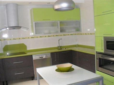 cocinas verdes manzana casa web