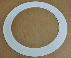 Recessed lighting trim sizes : Quot inch over size trim ring white oversized for