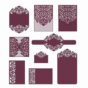 set laser cut templates svg dxf cdr rsvp reception With wedding invitation templates for cricut
