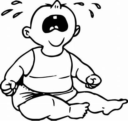 Cry Coloring Pages Boy Crying Bage Boys