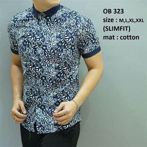kemeja pria baju batik slimfit baju pesta baju keluarga lb220 21 model batik pria slimfit lengan pendek modis etugest net