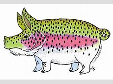 Nate Karnes' Pig Rainbow Trout Decal Duranglers Fly