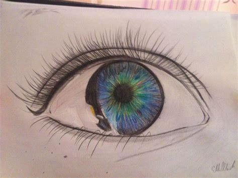 bild auge pupille traenen traurig von ellen bei kunstnet