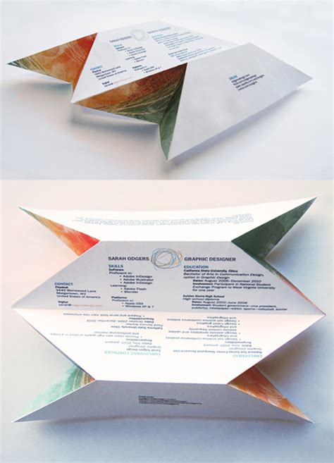 How To Fold A Resume by 14 More Of The Coolest R 233 Sum 233 S Business Insider