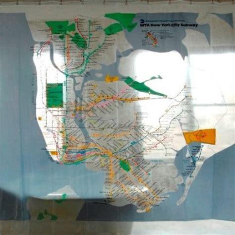 subway map shower curtain my