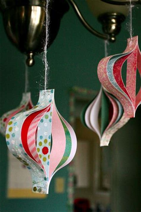 decorate  christmas tree  beautiful diy paper