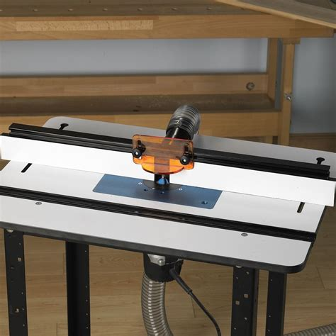 rockler phenolic router table top pro fence pro lift