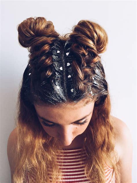 glitter roots hair prom hair hair
