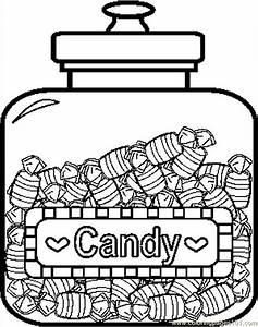 Candy Jar Clipart Black And White - ClipartXtras