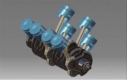 Engine V8 Motor 3d Cad Different Electrical