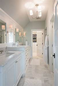 pretty master bathroom with soft blue gray walls marble With master floors mn