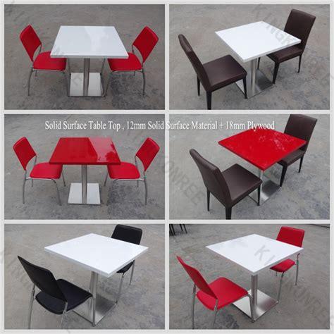 surface solide 4 personne table et une chaise pour restaurant utilis 233 table 224 manger id du