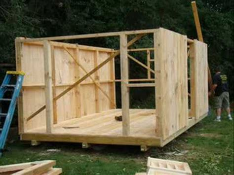 easy to build shed building a shed in 2 min