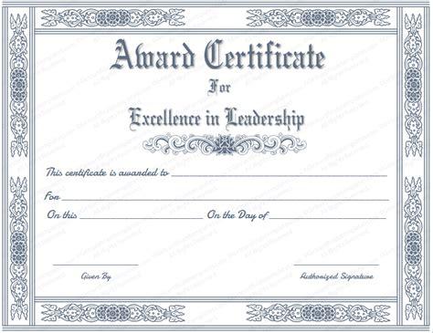 Award Certificate Template Free Award Certificate Template Sles Thogati