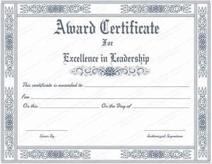 free printable best leader award certificate template With certificate of leadership template