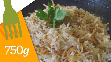 cuisiner vermicelle de riz recette de riz libanais aux vermicelles 750 grammes