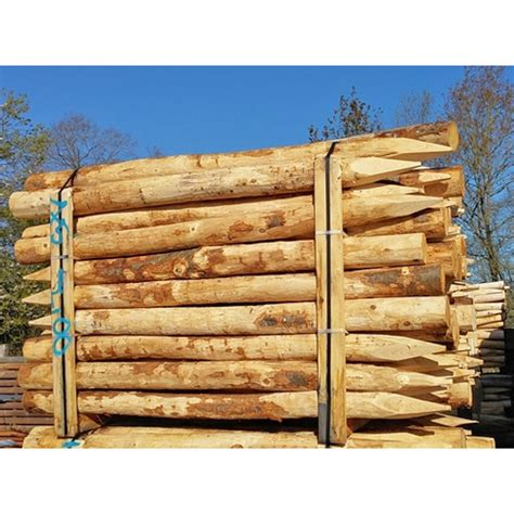 piquet bois cloture piquet de cl 244 ture 2 m en bois de ch 226 taignier abrivert