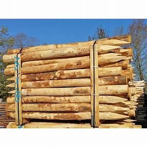 Piquet En Bois Pour Cloture : piquet de cl ture 2 m en bois de ch taignier abrivert ~ Farleysfitness.com Idées de Décoration
