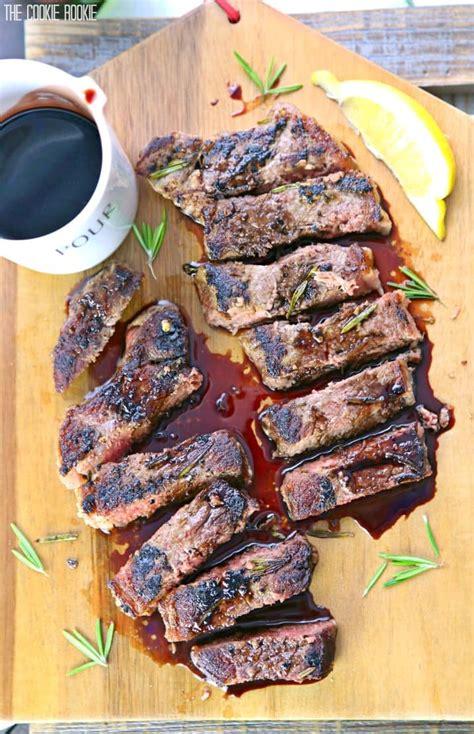 seared  york strip steak  red wine balsamic