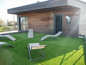 Amenagement Terrasse De Toit : bains de soleil sur toiture terrasse la maison bois ~ Premium-room.com Idées de Décoration