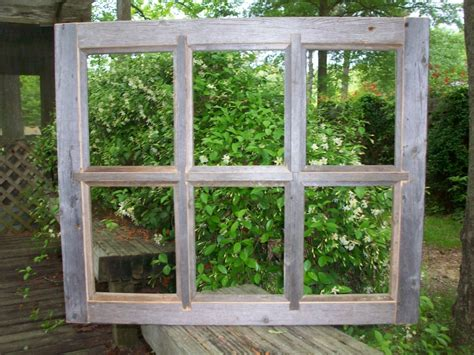 Home Interior Window Pane Picture : 8x10 Barnwood Window Pane Picture Frame