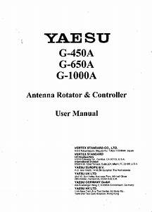 Yaesu G450a G650a G1000a Sm Service Manual Download