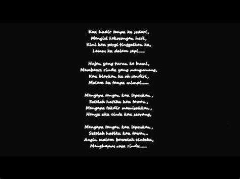 Hanya Aku Cinta Kau Seorang (lirik) Youtube
