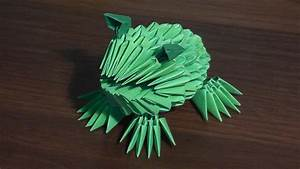3d Origami Frog  Toad  Tutorial  For Beginners