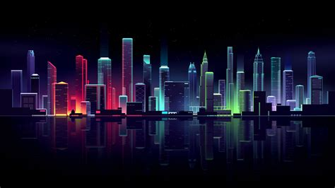 neon cityscape wallpapers hd wallpapers id