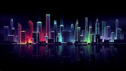 Neon Cityscape Wallpapers Hdwallpaperslife