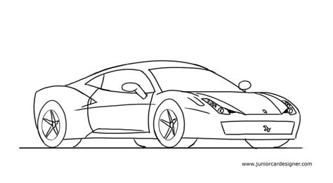 ferrari drawing how to draw a ferrari 458 junior car designer