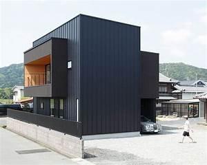 les 25 meilleures idees de la categorie bardage metallique With google vue des maisons 6 maison contemporaine avec bardage en bois noir