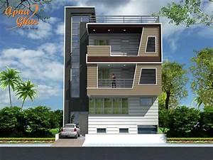 5, Bedroom, Modern, Triplex, 3, Floor, House, Design, Area