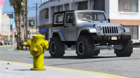 Jeep Wrangler Unlimited Modification by Gta 5 Jeep Wrangler Unlimited 3 Door Jk 2013 Add On