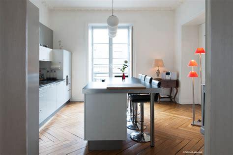 dans la cuisine nantes appartement style haussmannien nantes classique chic