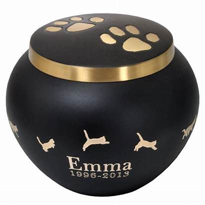 Urns Cremation Kitty Leaping Gold Cat Urn