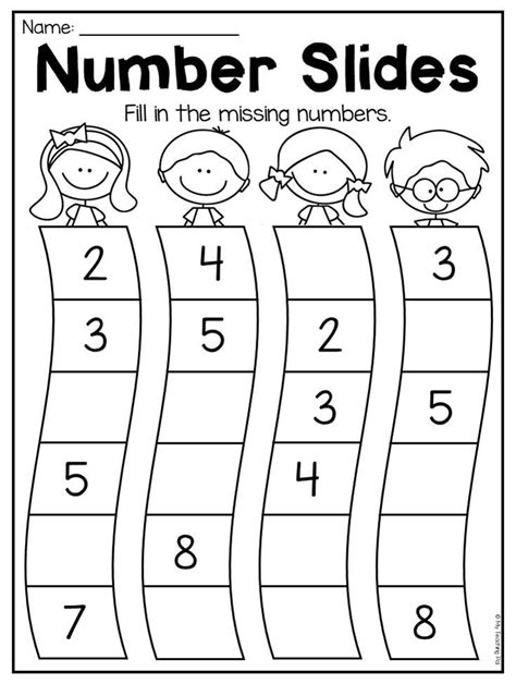 kindergarten numbers   worksheet pack distance