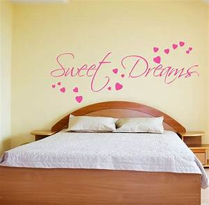 Quote wall stickers for bedrooms : Sweet dreams wall sticker art decals quotes bedroom w