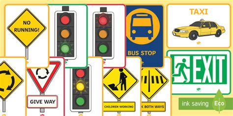 Qld Classroom Road Signs A4 Display Posters