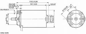 Motor Dimensions Shaft Dimensions Connector Dimensions