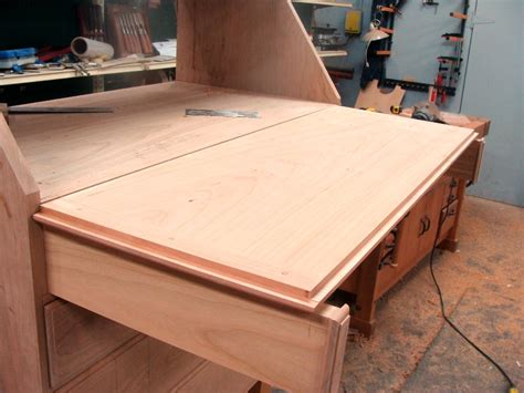 curly cherry slant front desk finewoodworking