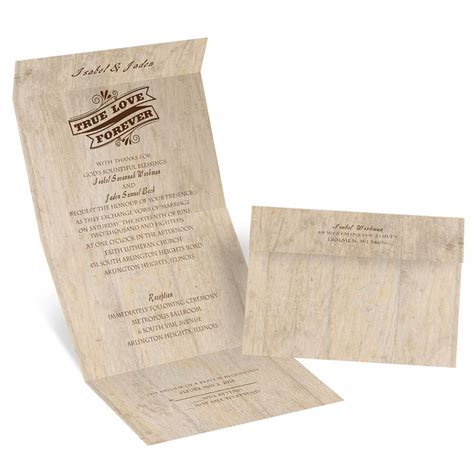 choose  design rustic seal  send invitation