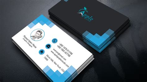 clean modern business card design photoshop tutorial